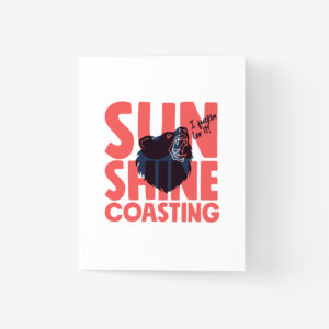 Sunshine Coast Greeting Card with Bear