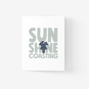 Sunshine Coast Greeting Card with Bike