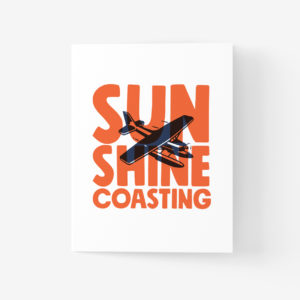 Sunshine Coast Greeting Card with Seaplane