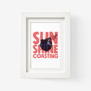 Sunshine Coast Framed Print of Bear