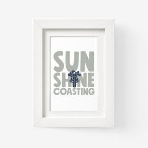 Sunshine Coast Framed Print of Bike