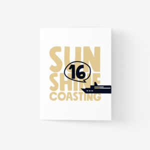 Sunshine Coast Greeting Card with Ferry