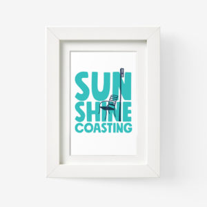 Sunshine Coast Framed Print of a Local Bus Stop