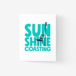 Sunshine Coast Greeting Card with Bus Stop