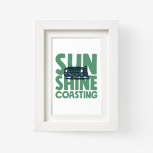 Sunshine Coast Framed Print of a Caravan