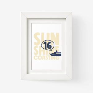 Sunshine Coast Framed Print of Ferry Boat