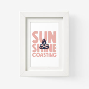 Sunshine Coast Framed Print of Campfire