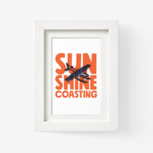Sunshine Coast Framed Print of a Seaplane